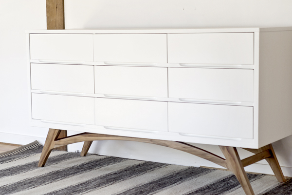 Adding Legs To A Mid Century Modern Dresser How To Dorsey Designs