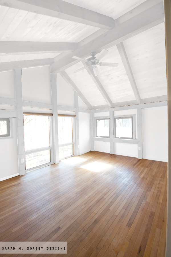 Paint The Beams White Wash Ceiling