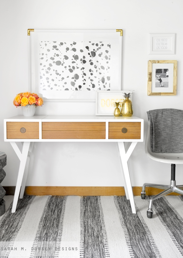The Other Weekend David Found This Mid Century Modern Vanity Desk At Goodwill For 25 It Was Buried And I Walked Right By So Glad That He Spotted