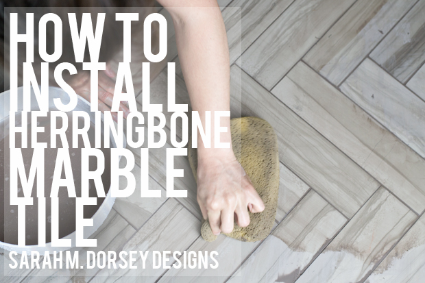 How To Install Herringbone Marble Tile Dorsey Designs