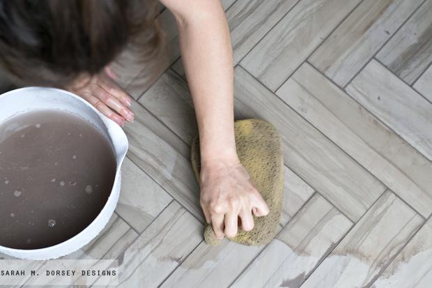 How To Install Herringbone Marble Tile Dorsey Designs