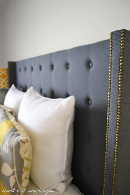 online store 76428 51635 DIY Tufted Headboard with Nailhead and Wings | Bob Vila ...