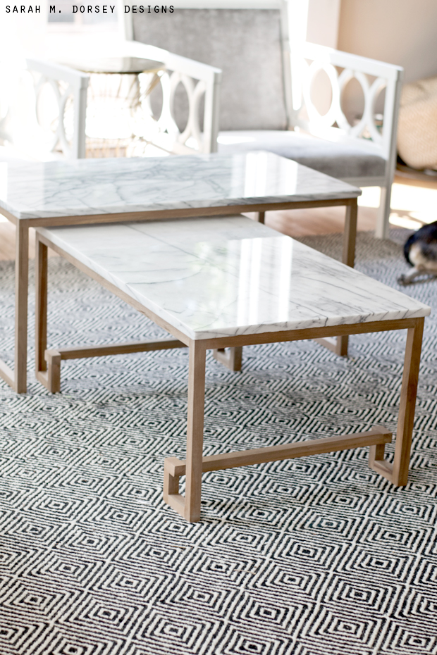 Marble Nesting Tables for the Living Room - Dorsey Designs