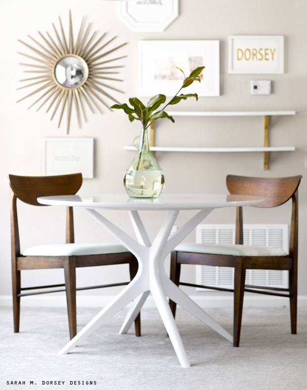 Enjoyable Mid Century Modern Table And Chairs Before After Home Remodeling Inspirations Genioncuboardxyz