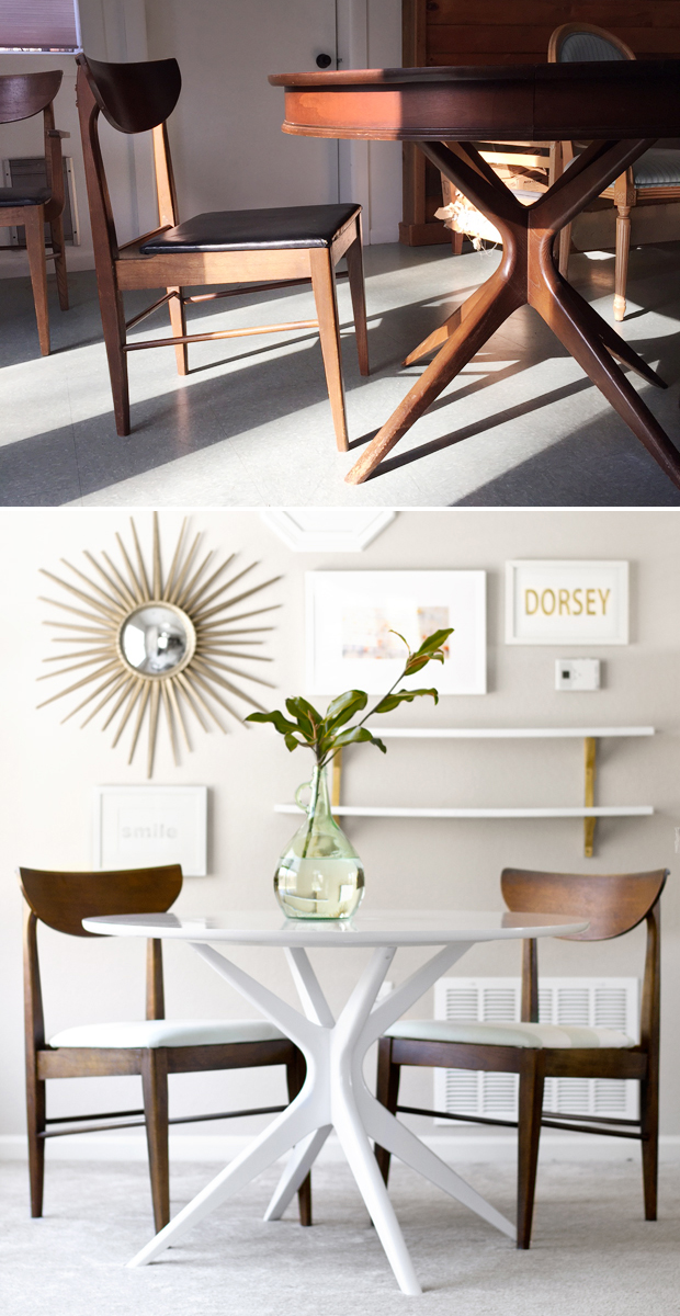 Wondrous Mid Century Modern Table And Chairs Before After Ncnpc Chair Design For Home Ncnpcorg