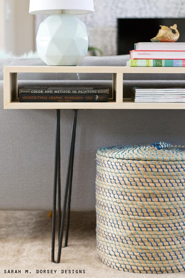 Mcm sofa table dorsey designs for Sofa table tutorial