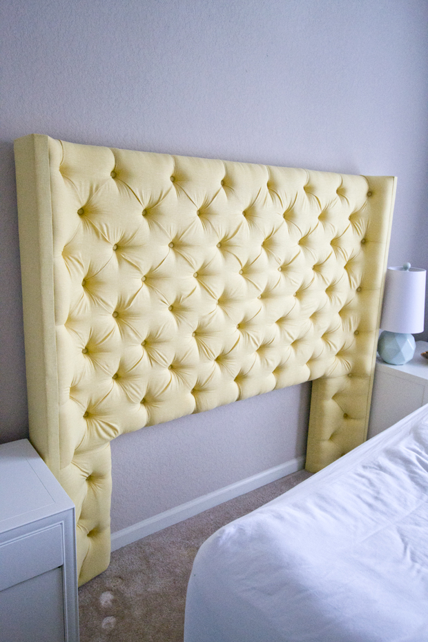 uk availability 25045 84912 Yellow Tufted Headboard with Arms - Dorsey Designs